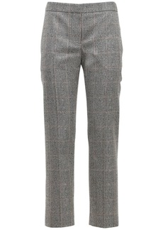 Alexander McQueen Prince Of Wales Straight Leg Crop Pants