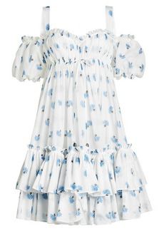 Alexander McQueen Printed Cotton Dress