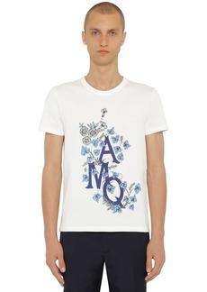 Alexander McQueen Printed Japanese Cotton Jersey T-shirt