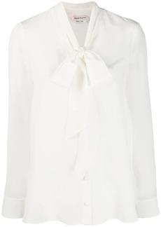Alexander McQueen pussy bow shirt