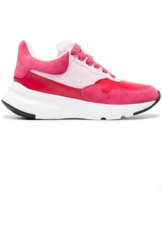 Alexander McQueen red Oversized Runner leather sneakers