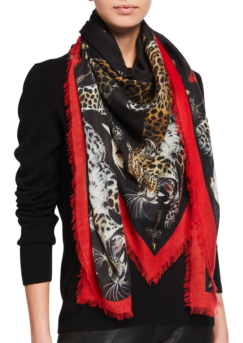 Alexander McQueen Regal Leopard Shawl