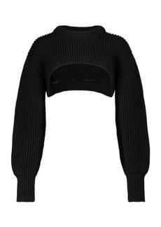 Alexander McQueen Ribbed cotton shrug