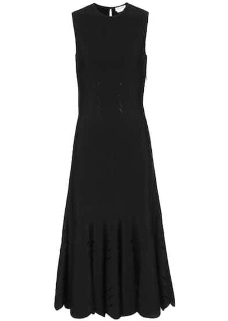 Alexander McQueen Ribbed-knit midi dress