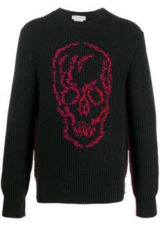 Alexander McQueen ribbed knit skull motif jumper