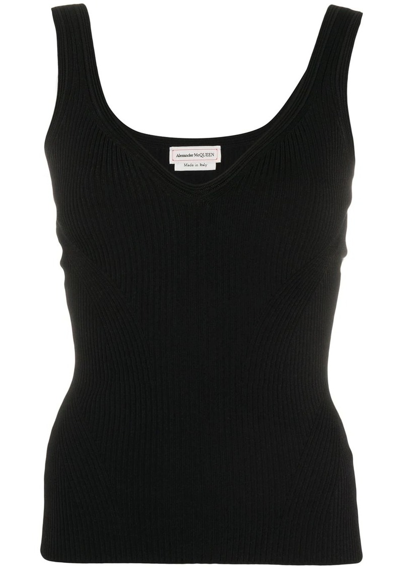 Alexander McQueen ribbed knitted top