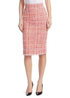 Alexander McQueen Ribbon Tweed Pencil Skirt