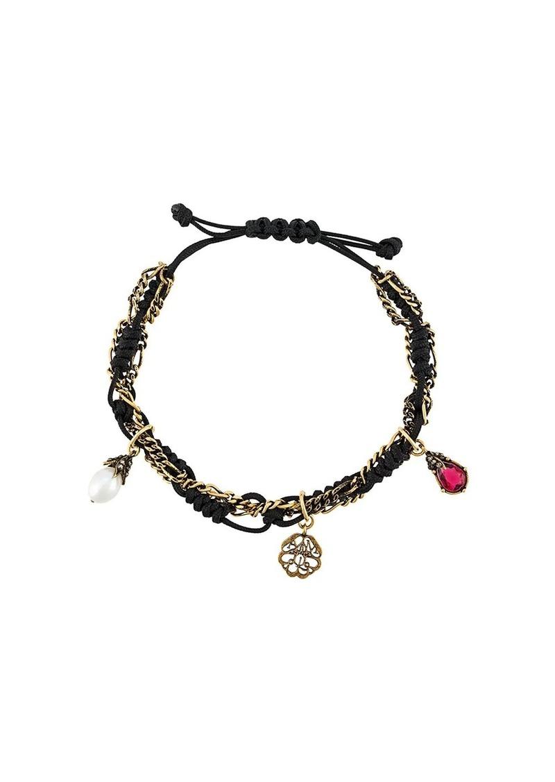 Alexander McQueen rope charm bracelet