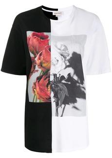 Alexander McQueen rose-print T-shirt