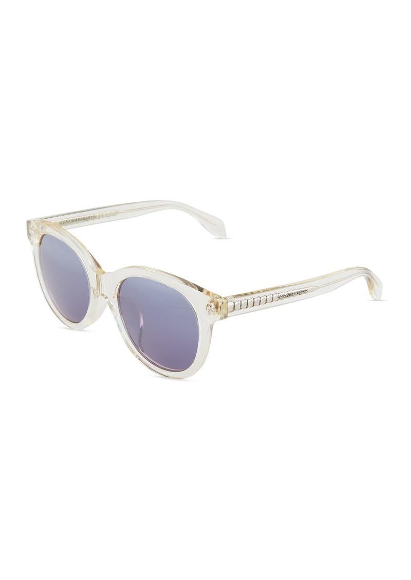 e3964266cb10 Alexander McQueen Round Acetate Frames | Sunglasses