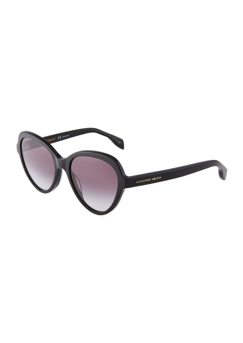 f14a7cf67f01 Alexander McQueen Round Acetate Sunglasses Now $157.50