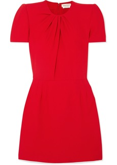 Alexander McQueen Ruched Crepe Mini Dress