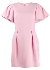 Alexander McQueen ruched sleeve mini dress