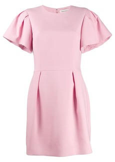 Alexander McQueen ruched sleeve mini dress