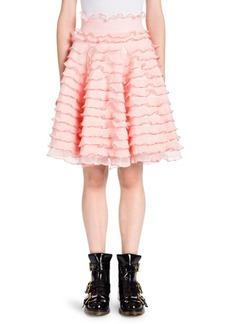 Alexander McQueen Ruffle A-Line Skirt