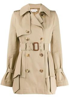 Alexander McQueen ruffle detail trench coat