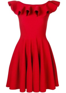 Alexander McQueen ruffle flared mini dress