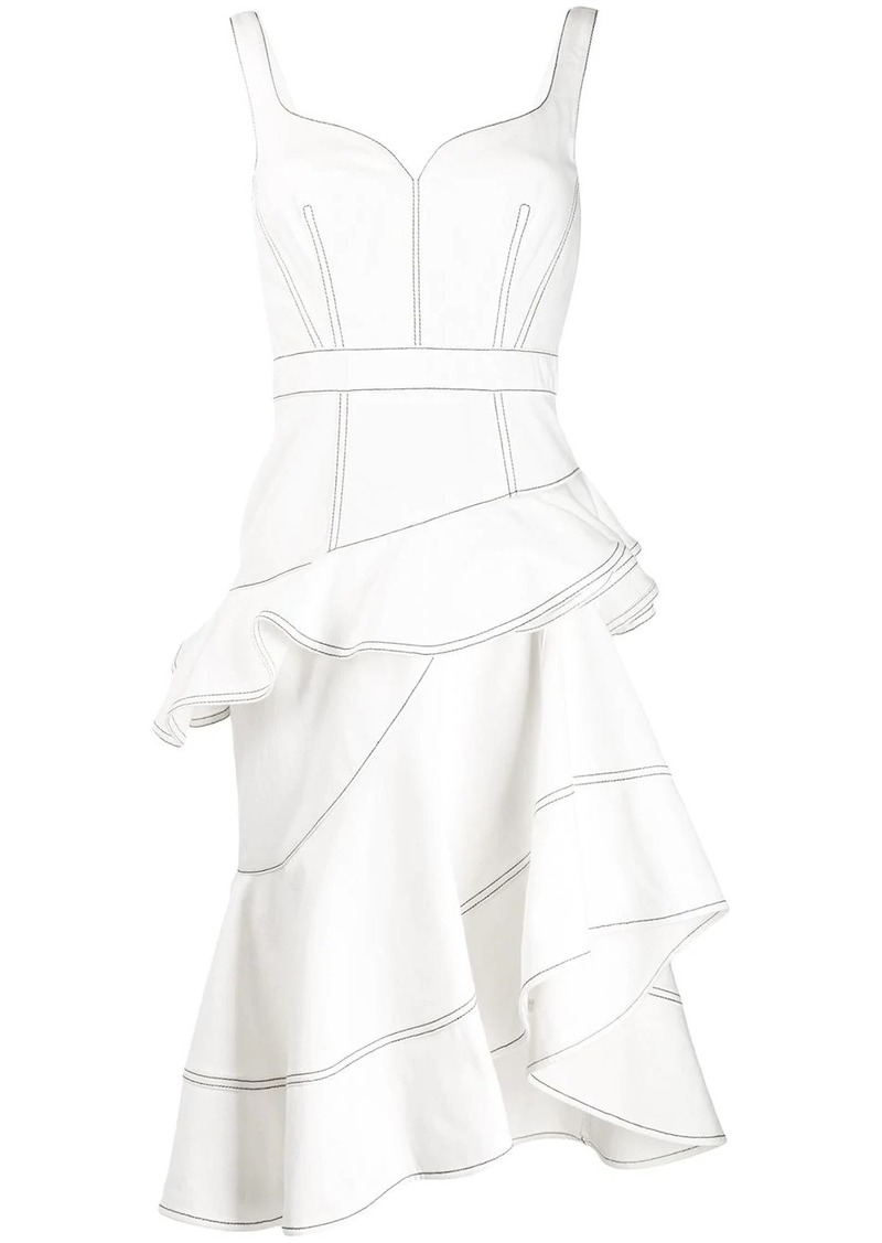 Alexander McQueen ruffled asymmetric dress