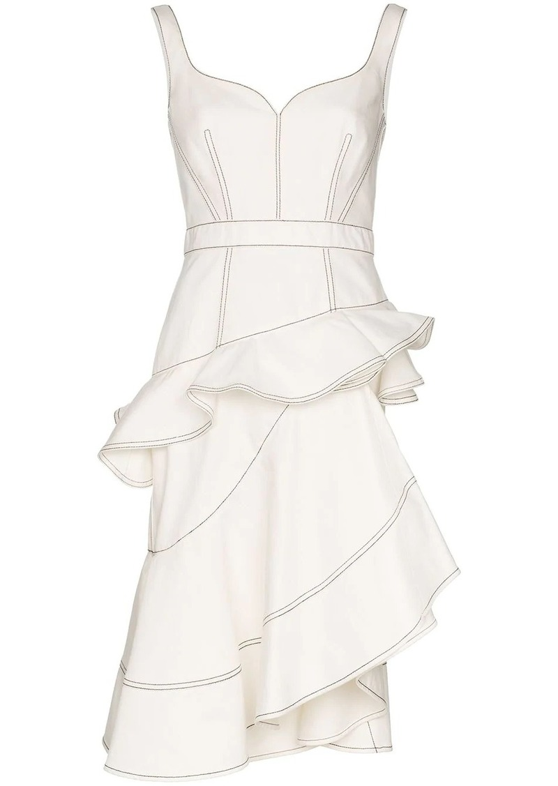 Alexander McQueen ruffled asymmetric dress