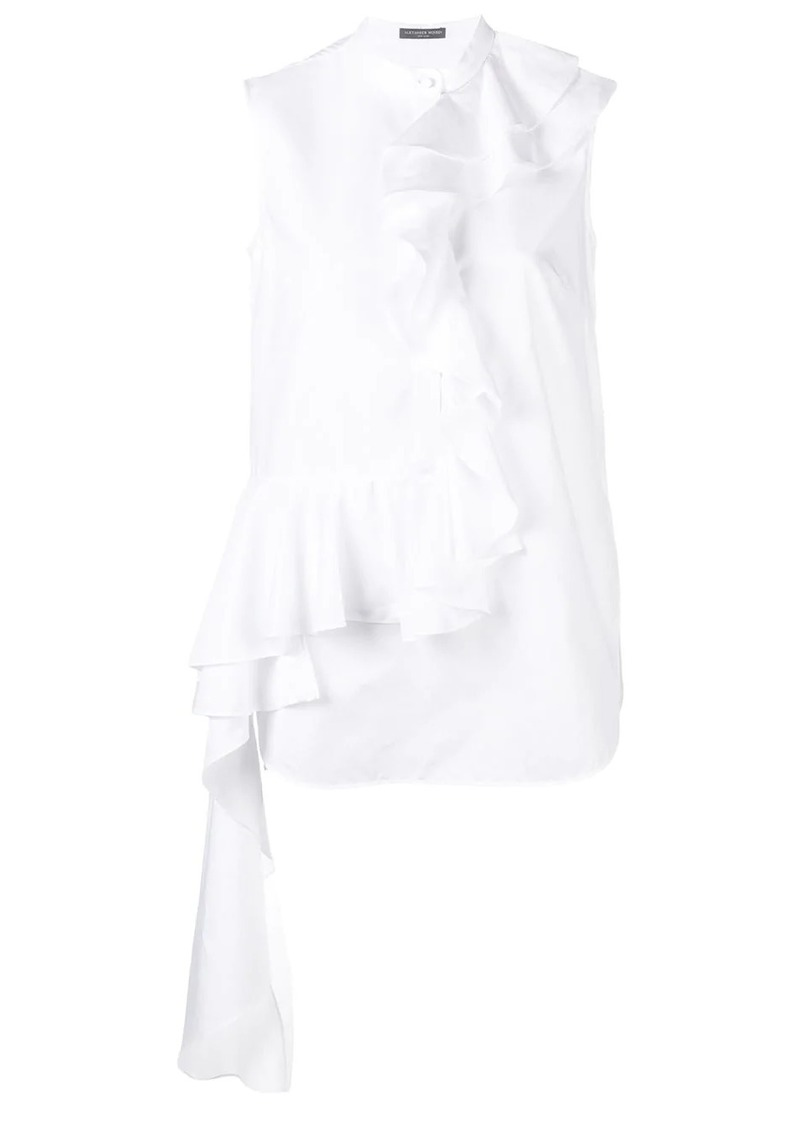Alexander McQueen ruffled asymmetric top