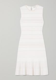 Alexander McQueen Ruffled Cable-knit Wool-blend Mini Dress