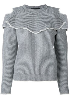 Alexander McQueen ruffled crew-neck sweater