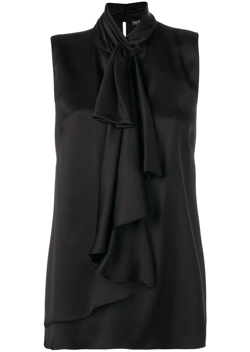 Alexander McQueen ruffled high-neck top