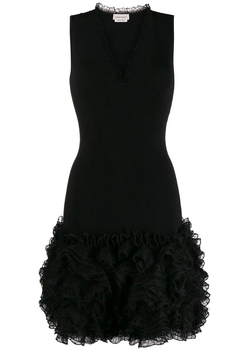 Alexander McQueen ruffled short dress