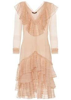 Alexander McQueen Ruffled silk minidress