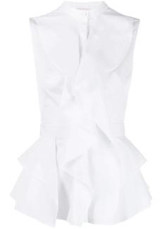 Alexander McQueen ruffled sleeveless peplum blouse