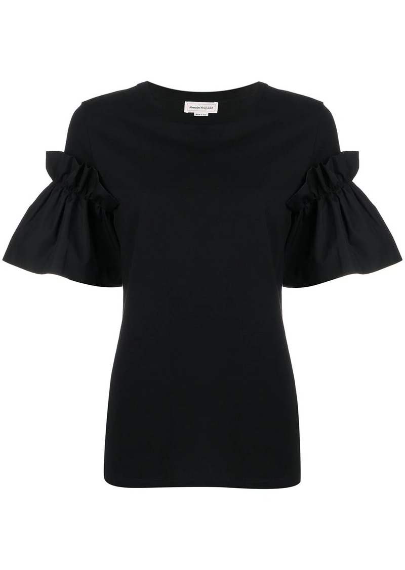 Alexander McQueen ruffled sleeves T-shirt
