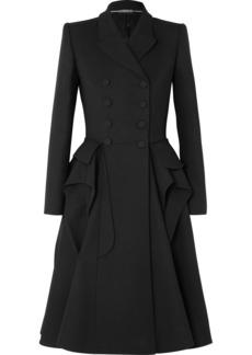 Alexander McQueen Ruffled Wool-blend Cady Coat