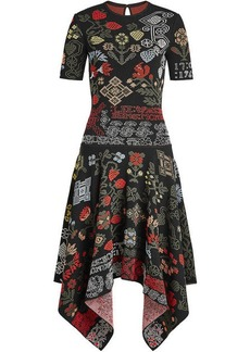 Alexander McQueen Samplers Jacquard Dress with Silk