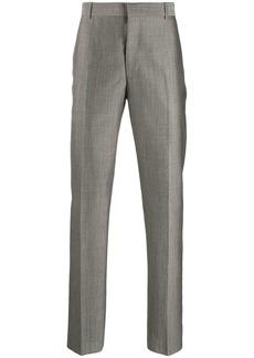 Alexander McQueen satin weave suit trousers