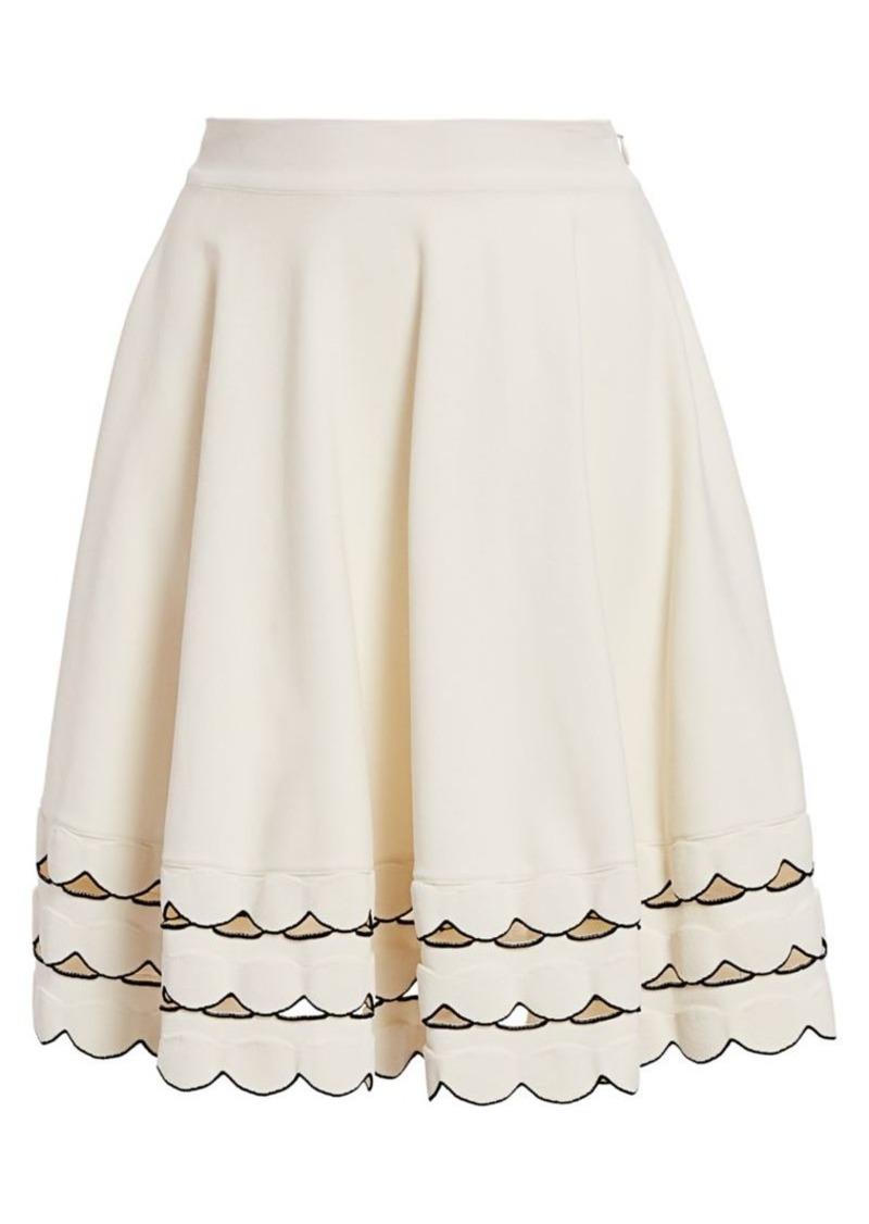 Alexander McQueen Scallop Hem Circle Skirt