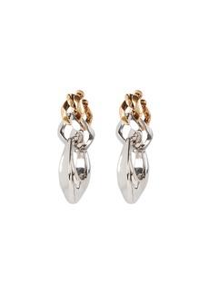Alexander McQueen Sculptural Chain Drop Earrings