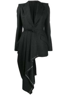 Alexander McQueen selvedge drape jacket