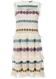 Alexander McQueen sheer embroidered dress