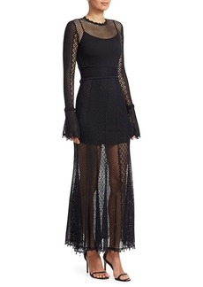 Alexander McQueen Victorian Mesh Knit Gown