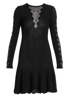 Alexander McQueen Ottoman Knit Mini Dress