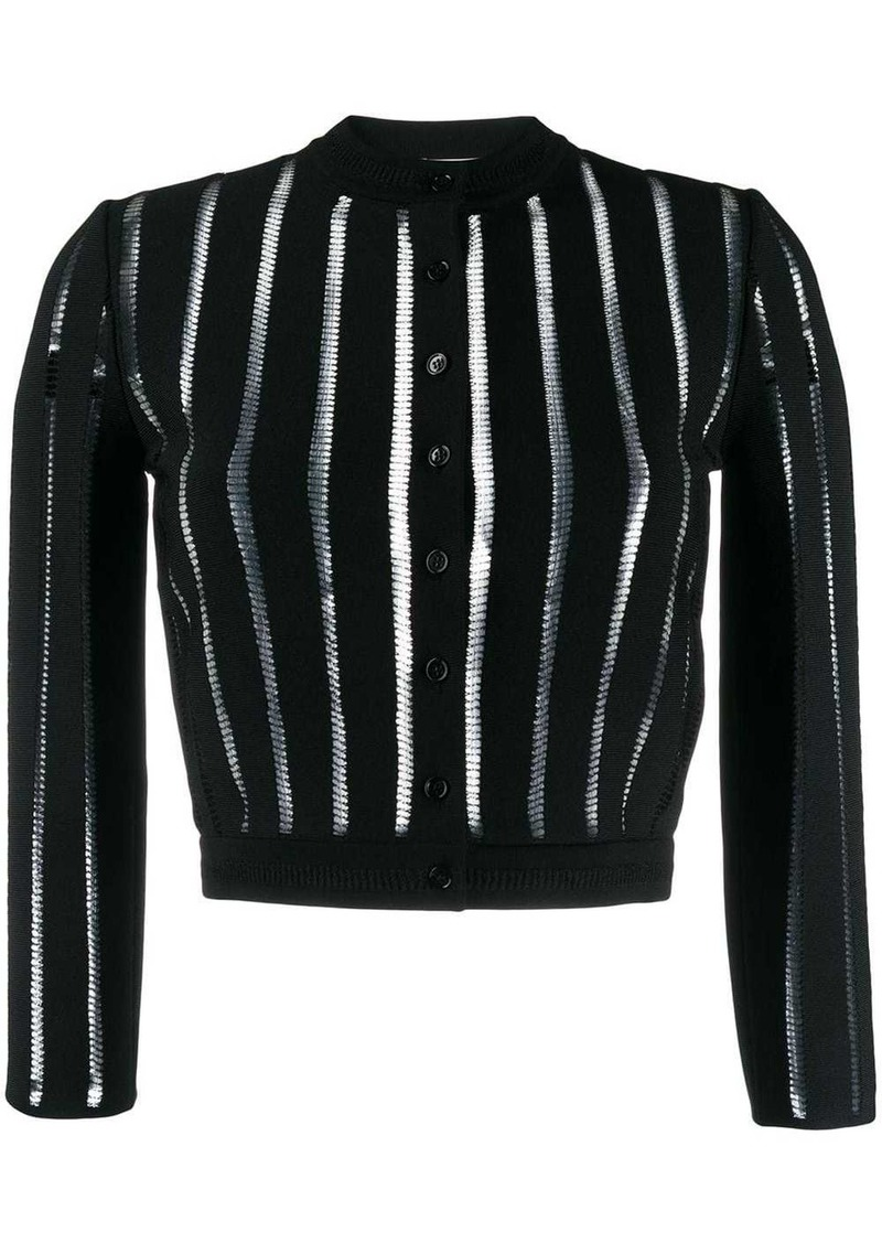 Alexander McQueen sheer panelled knitted cardigan