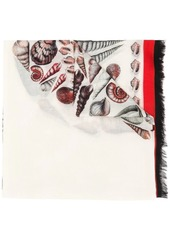 Alexander McQueen shell print scarf