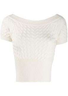 Alexander McQueen short sleeve sweater