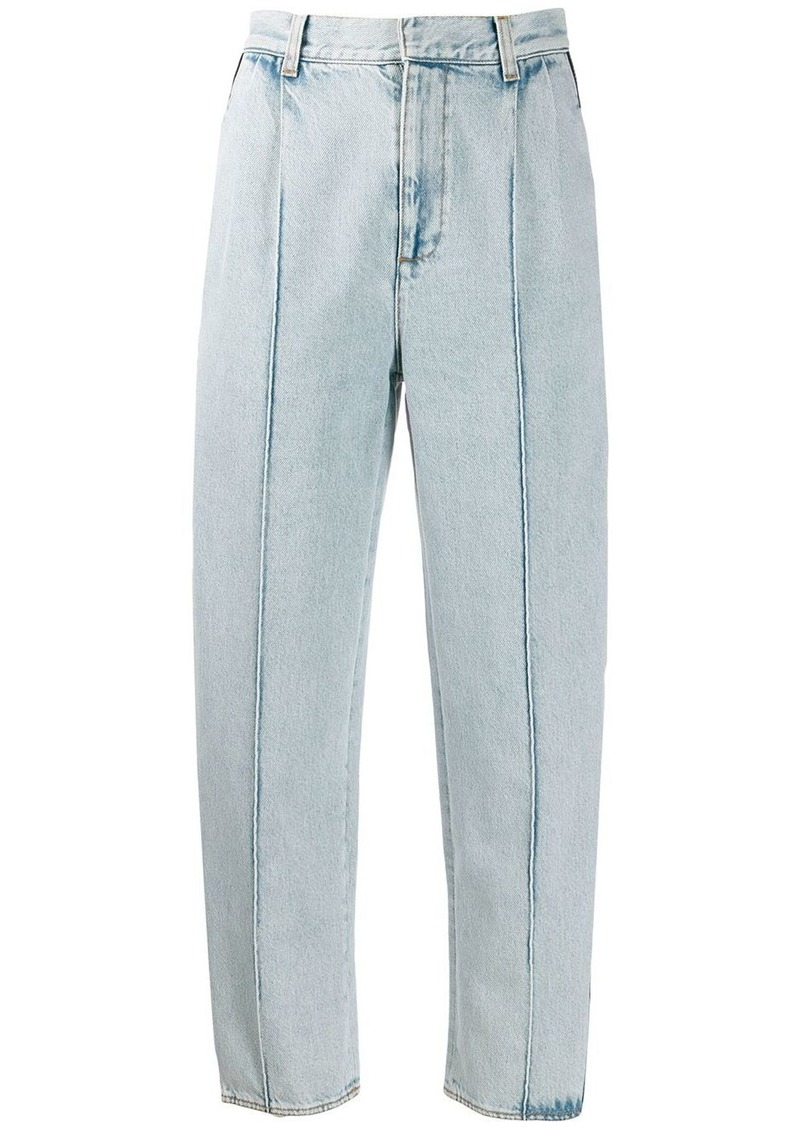 Alexander McQueen side panelled straight-leg jeans