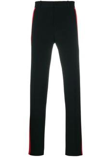 Alexander McQueen side-stripe straight trousers