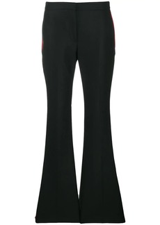 Alexander McQueen side stripes flared trousers