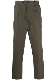 Alexander McQueen side tape cropped trousers