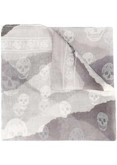 Alexander McQueen signature skull logo scarf