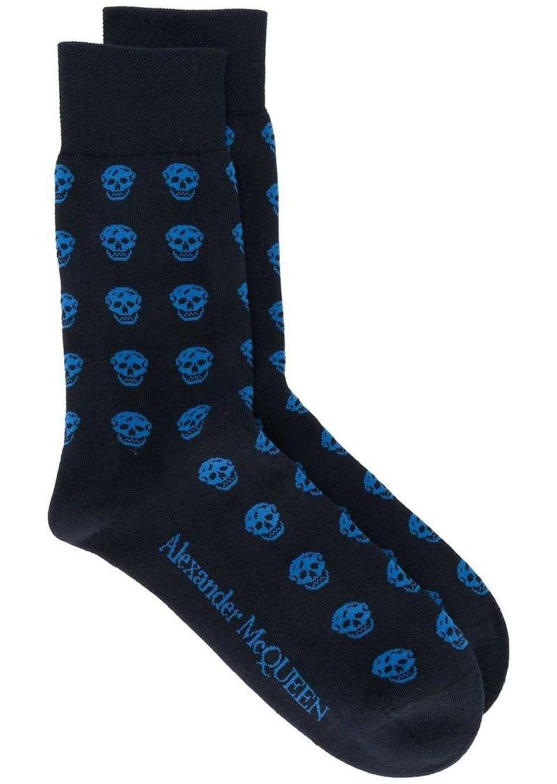 Alexander McQueen signature skull print socks