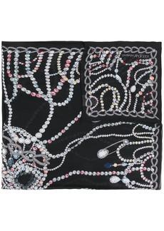 Alexander McQueen silk chandelier skull shawl